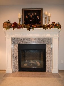 Custom Hardwood Fireplace