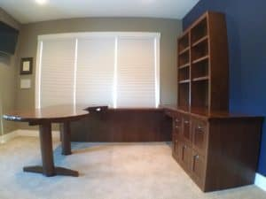 Custom Hardwoods Office Table and Cabinets