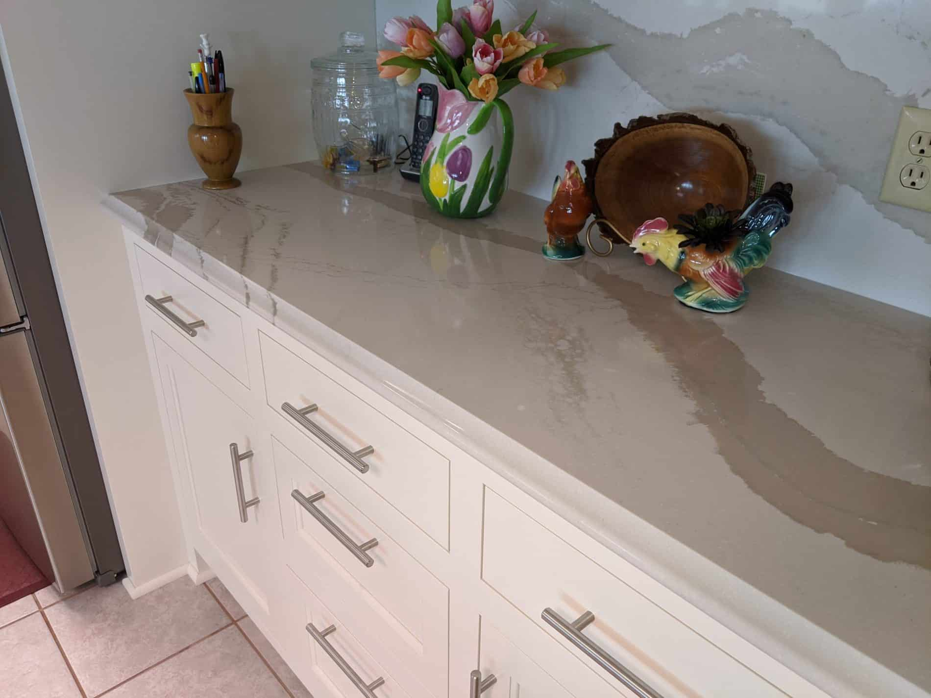Painted Kitchen with cambria tops