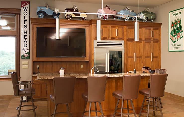 Custom built bar cabinets